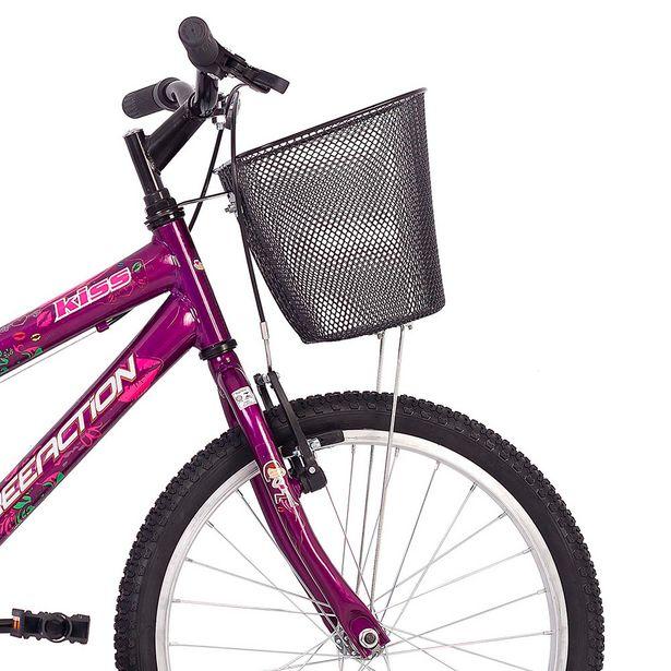 Oferta de Bicicleta Infantil Free Action Kiss Aro 20 Quadro Aço de Carbono Violeta por R$549