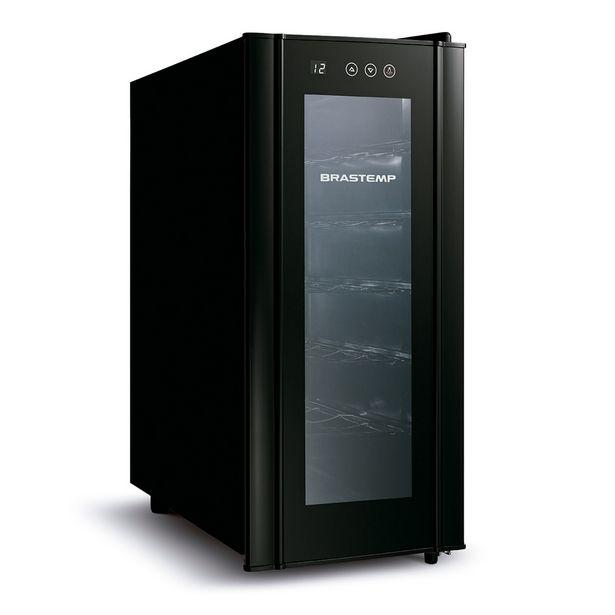 Oferta de Adega 12 Garrafas Climatizada Allblack BZC12BE Preta, com painel touch - Brastemp por R$899