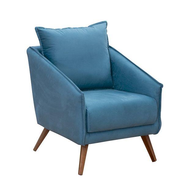 Oferta de Poltrona Elea 2041 Azul Turquesa Konfort Móveis por R$609
