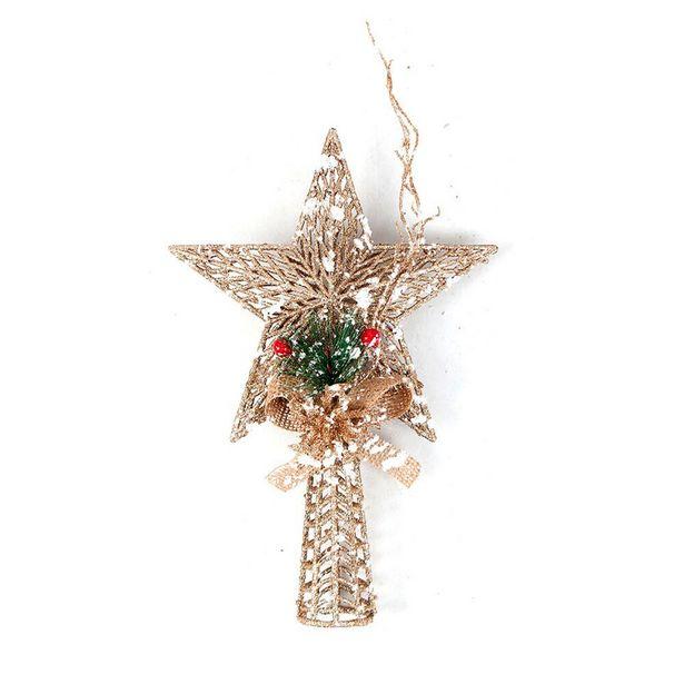 Oferta de Ponteira Estrela para Árvore de Natal Dourada - Multiart por R$15,29