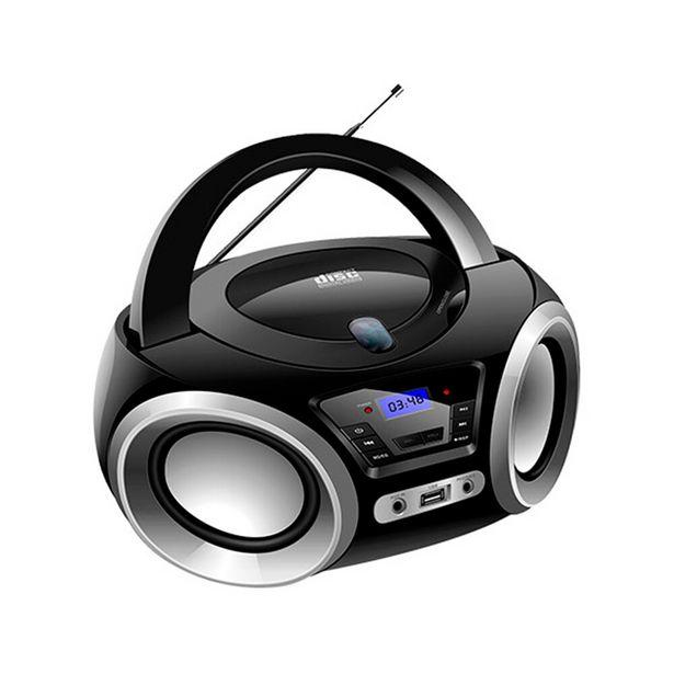 Oferta de Rádio Portátil Lenoxx Boombox BD1370 - Preto/Prata por R$359