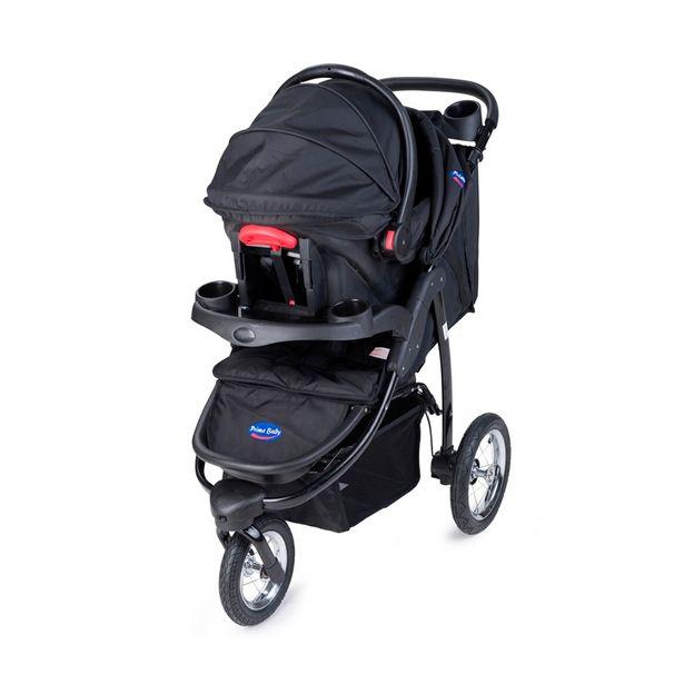 Oferta de Carrinho de Bebê + Bebê Conforto Velloz 1029 - Azul - Prime Baby por R$1079