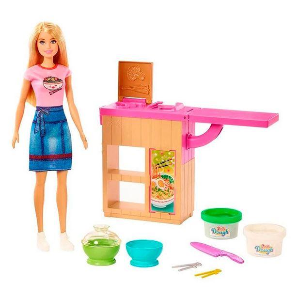 Oferta de Barbie Playset Máquina de Macarrão GHK43 - Mattel por R$179,99