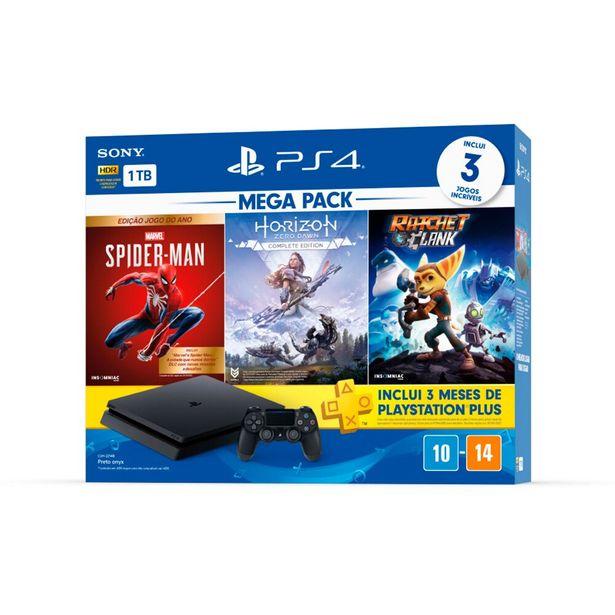 Oferta de Console PlayStation 4 Sony Mega Pack 1TB 1 Controle DualShock - Preto por R$2899