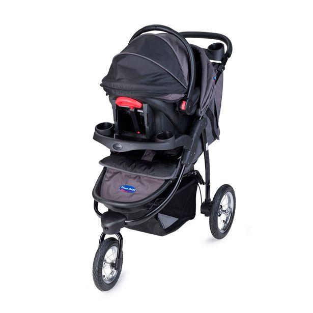 Oferta de Carrinho de Bebê + Bebê Conforto Velloz 1029-B Preto - Prime Baby por R$1079