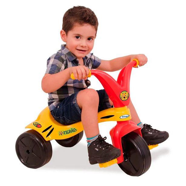 Oferta de Triciclo Tigrão 0762.1 Vermelho/Amarelo - Xalingo por R$71,99