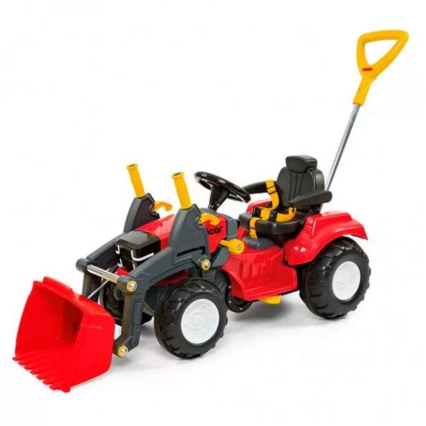Oferta de Carrinho de Passeio Polictrator com Concha 7669 Vermelho - Poliplac Brinquedos por R$799