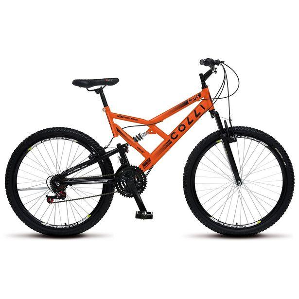Oferta de Bicicleta Colli Full GPS 21 Marchas Aro 26 - Laranja Neon por R$849