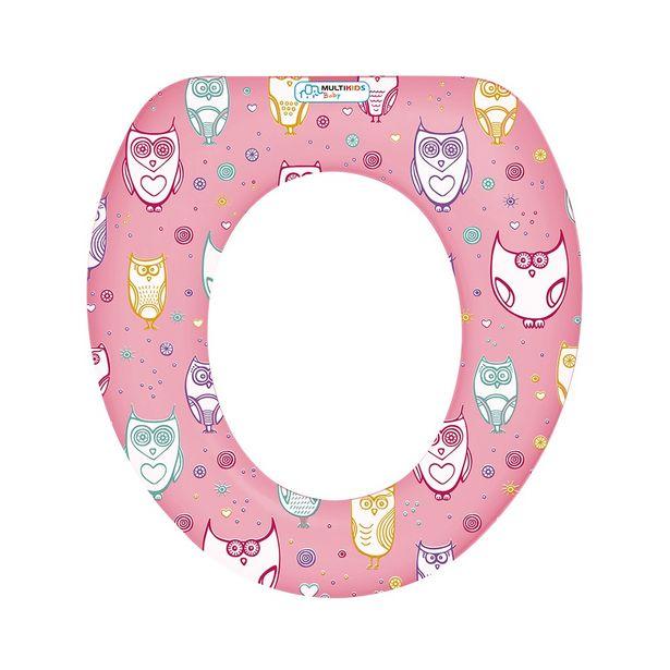 Oferta de Redutor para vaso sanitário Soft Seat Rosa Multikids Baby por R$29,99