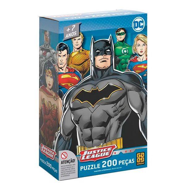 Oferta de Puzzle Liga da Justiça 200 Peças 3808 - Grow por R$26,99