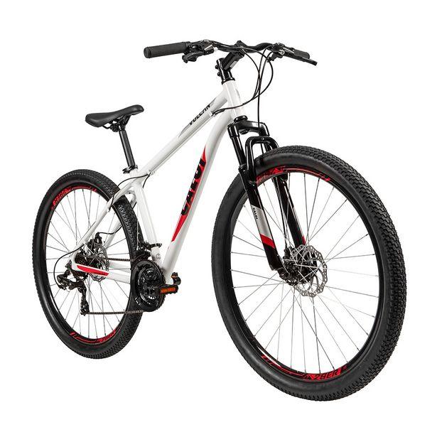 Oferta de Bicicleta Caloi Aro 29 Vulcan 21 Marchas Quadro em Alumínio - Branco por R$1699