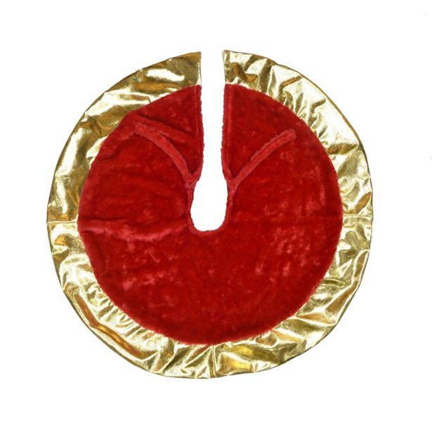 Oferta de Saia para Árvore de Natal Vermelho/Dourado - Multiart por R$24,29