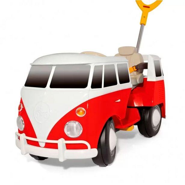 Oferta de Carrinho de Passeio e Pedal Kombus 8055 Vermelho - Poliplac Brinquedos por R$799