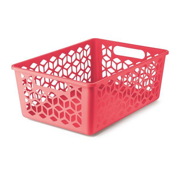 Oferta de Cesto Organizador G UZ361 Coral - UZ por R$18,99