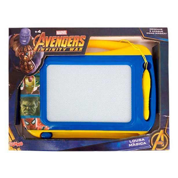 Oferta de Lousa Mágica Vingadores Azul - 34440 Toyng por R$49,99
