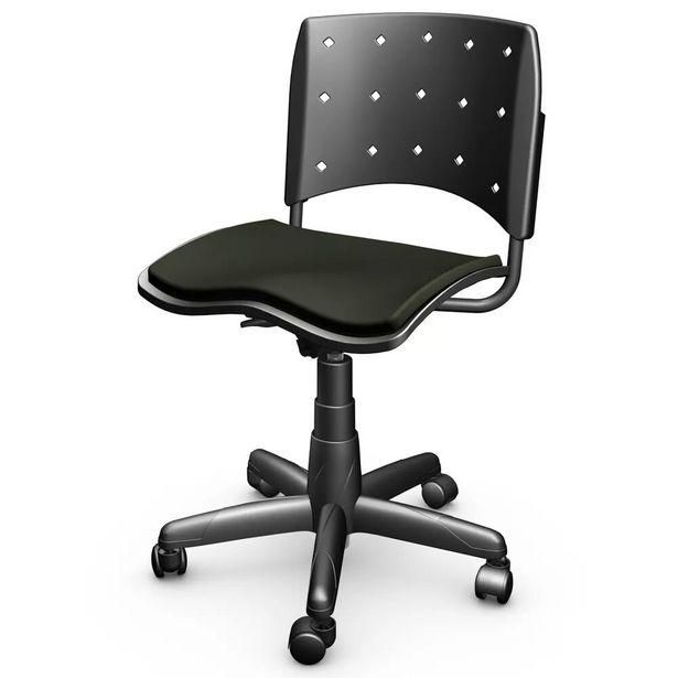Oferta de Cadeira de Escritório Giratória Ergoplax Mais Preto - Plaxmetal por R$299