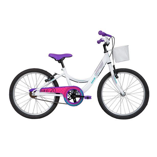 Oferta de Bicicleta Infantil Caloi Ceci 2019 Aro 20 Quadro Aço de Carbono Branco por R$759
