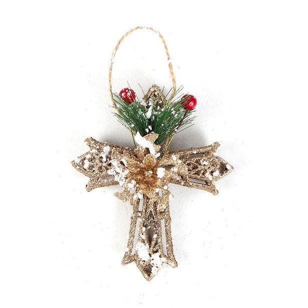 Oferta de Estrela para Árvore de Natal NAT159 Dourada - Multiart por R$8,09