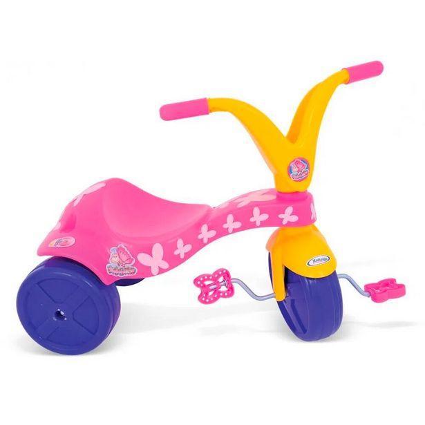 Oferta de Triciclo Borboletinha 0779.8 Rosa/Amarelo - Xalingo por R$71,99