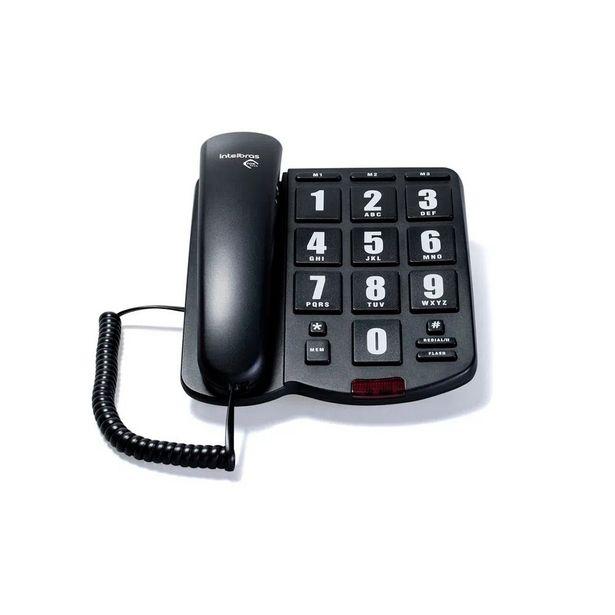 Oferta de Telefone com Fio Intelbras Tok Fácil - Preto por R$119