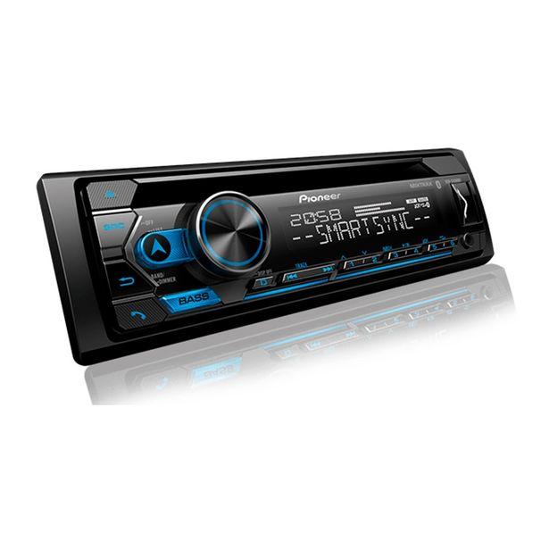 Oferta de Autorrádio CD Player Bluetooth USB AUX Comando de Volante e Pioneer Smart Sync DEH-S4280BT- Preto por R$584