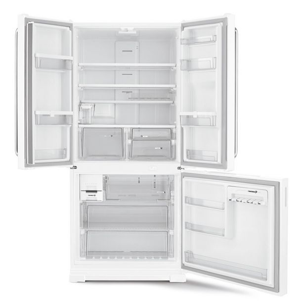 Oferta de Geladeira/Refrigerador Brastemp 3 Portas 540L Frost Free Side by Side Inverse BRO80ABBNA - Branca por R$5459