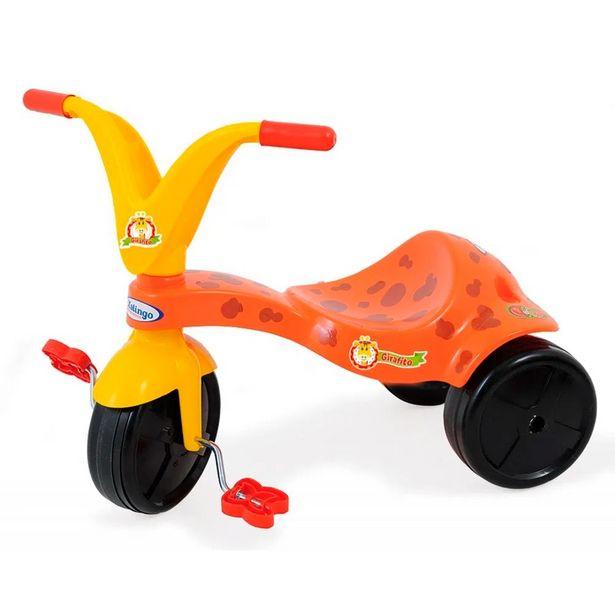 Oferta de Triciclo Girafito 0778.7 Laranja/Amarelo - Xalingo por R$71,99
