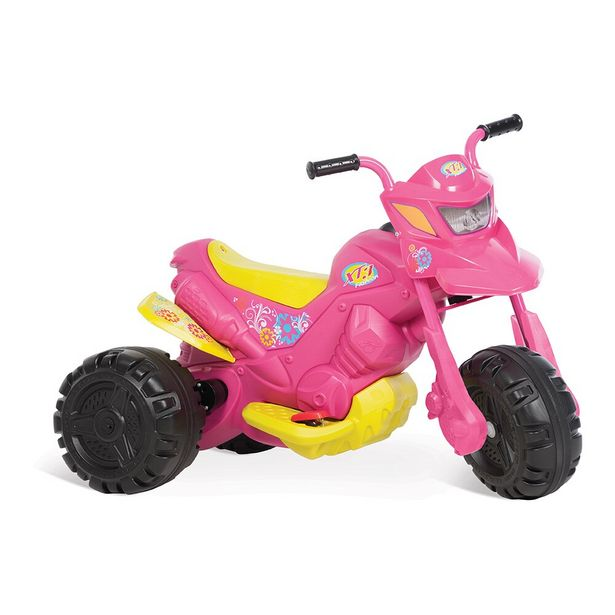 Oferta de Triciclo Moto XT3 Fashion Eletrica 6 Velocidades Rosa Bandeirantes por R$299