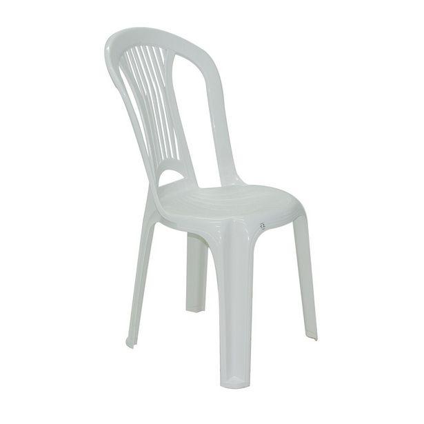 Oferta de Cadeira Atlântida Economy Branca - Tramontina por R$29,99