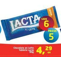 Oferta de Chocolate ao Leite Tablete Lacta por