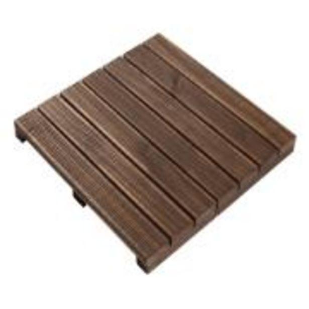 Oferta de Deck de Madeira Preto 50x50 - Massol por R$59,9