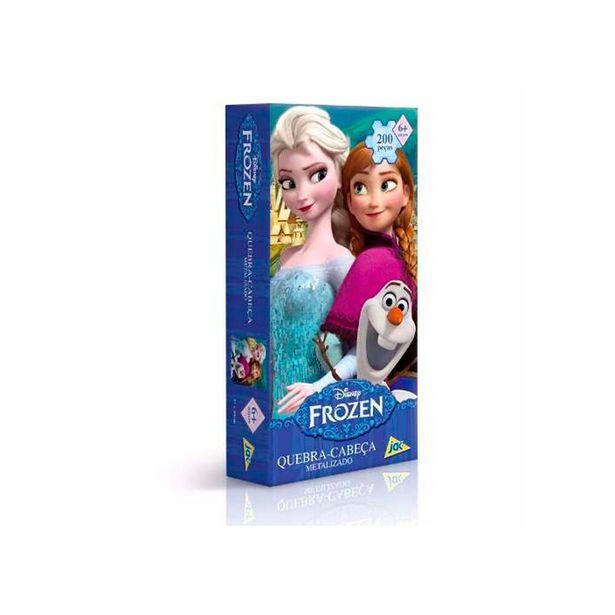 Oferta de Quebra-Cabeça Metalizado Frozen 200 Peças - Toyster por R$42,99