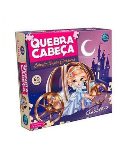 Oferta de Quebra Cabeça Cinderela 60 Peças Pais e Filhos  28520 por R$14,99