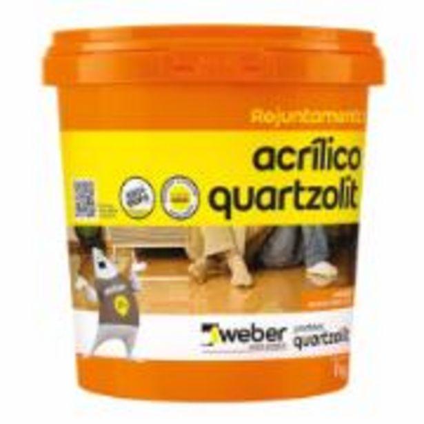 Oferta de Rejunte Acrílico Branco Balde 1kg - Quartzolit por R$28,9
