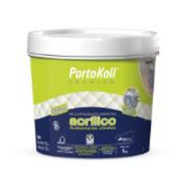 Oferta de Rejunte Acrílico Cinza Platina Balde 1kg - PortoKoll por R$26,9