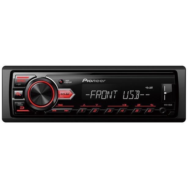 Oferta de Som Automotivo MP3/USB/AUX MVH-98UB Preto Pioneer por R$259