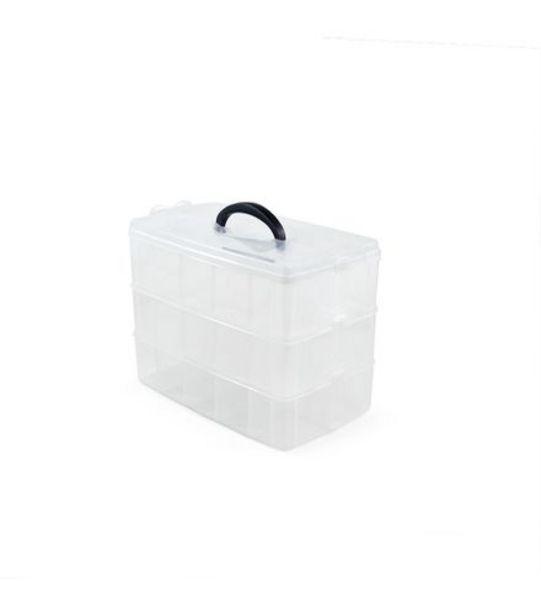 Oferta de Caixa Organizadora Plástica Color Útil bazar 33,2x19x26cm UB2233 por R$83,99