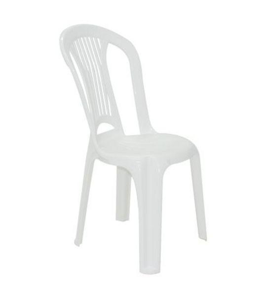 Oferta de Cadeira Bistrô Atlântida sem Braço Branca Tramontina 92013010 por R$43,99