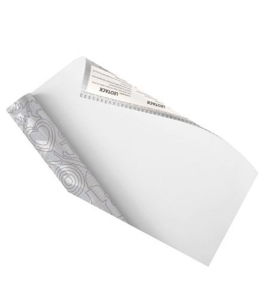 Oferta de Papel de Parede Branco 45cmx10m Leonora 79011 por R$49,99