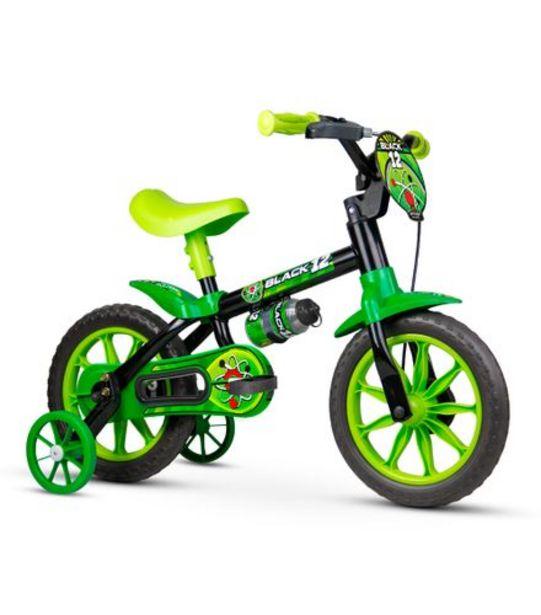 Oferta de Bicicleta Infantil Aro 12 Black Nathor 100010160035 por R$258,99