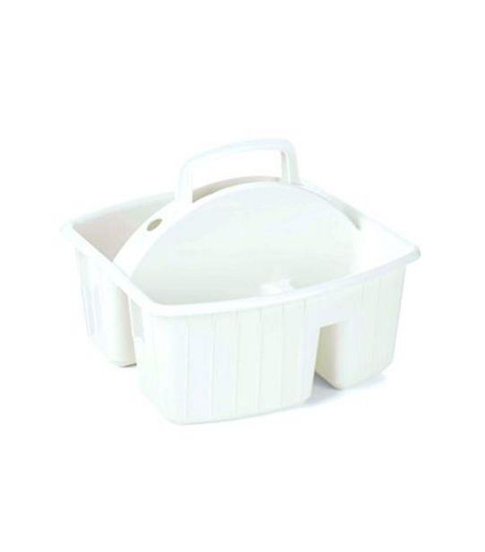 Oferta de Porta Produtos de Limpeza Plástico Branco Plasvale 5348510 por R$12,99