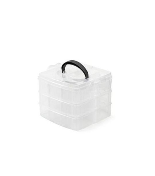 Oferta de Caixa Organizadora Plástica Color Útil Bazar 5x15,5x12cm UB2055 por R$17,99
