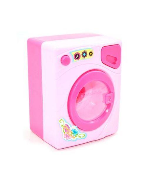 Oferta de Máquina de Lavar Infantil Rosa World Brinquedos FB01524 por R$24,99