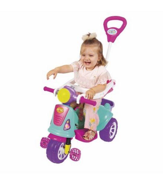 Oferta de Triciclo Infantil com Empurrador - Avespa - Pink - Maral 3173 por R$269,99