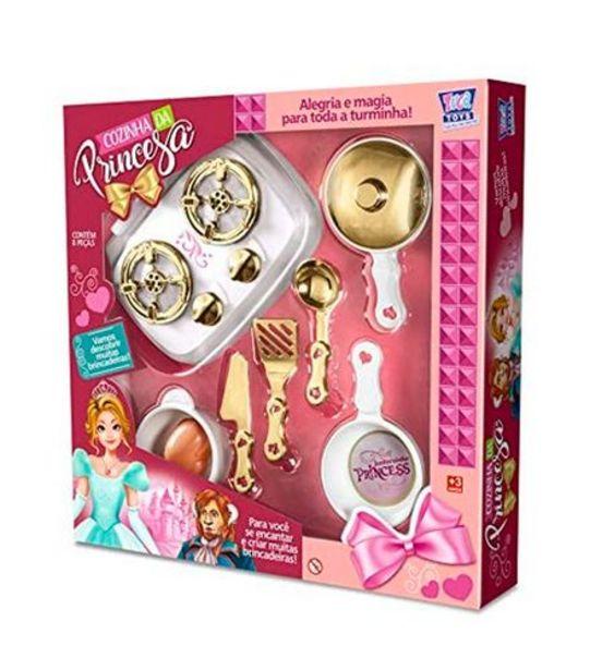 Oferta de Cozinha Infantil da Princesa 8 Peças Zuca Toys 7866 por R$36,99