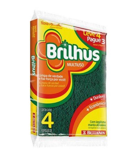 Oferta de Esponja Multiuso Leve 4 Pague 3 Brilhus Bettanin BT4514D144 por R$3,99