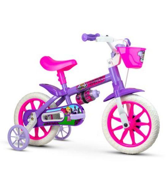 Oferta de Bicicleta Infantil Aro 12 Violet Nathor 100010160037 por R$258,99