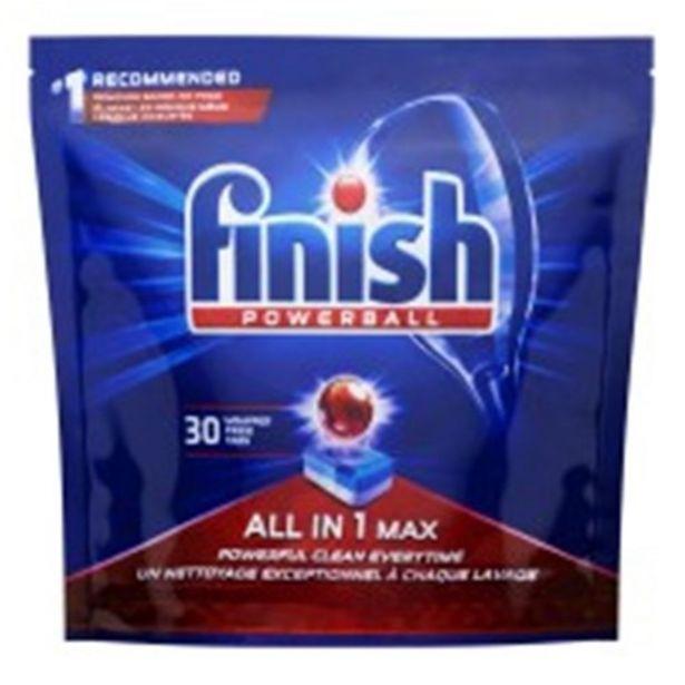 Oferta de Detergente para Máquina de Lavar Louças Finish Powerball 510G 30Un por R$59,89