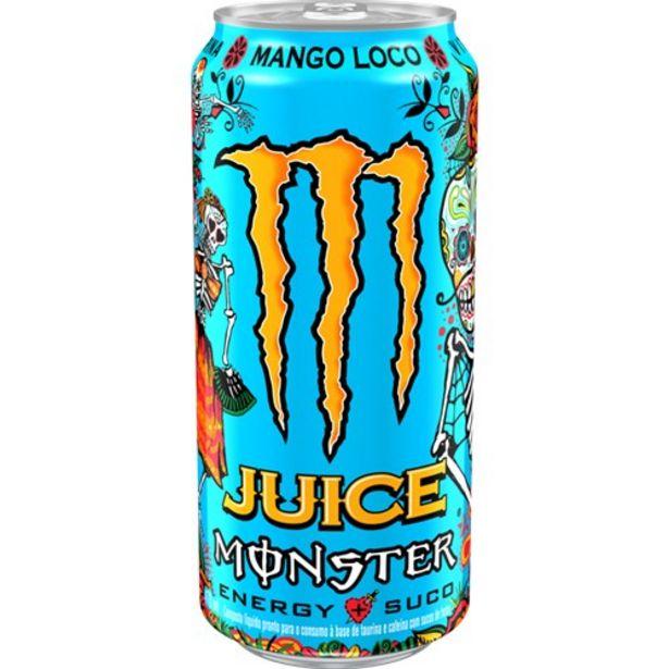 Oferta de Energético Monster Mango Loco Lata 473Ml por R$6,49