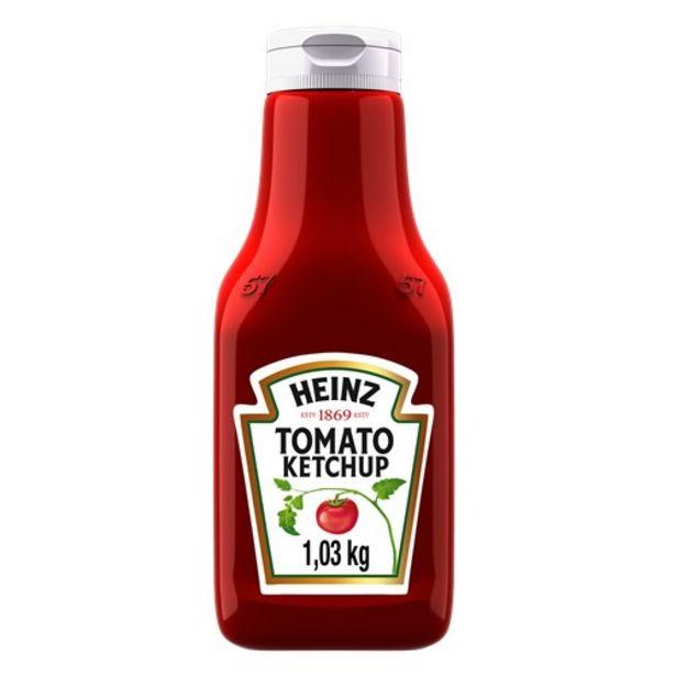 Oferta de Ketchup Heinz 1,033Kg por R$15,21